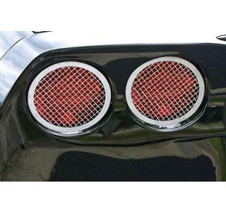 2005-2013 Corvette Laser Mesh Stainless Tail Light Grills (4pc)