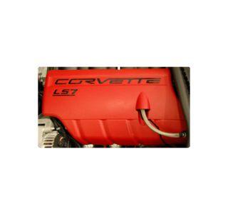 "2006-2013 Corvette ""LS7 Corvette"" Fuel Rail Acrylic Letter Kit"