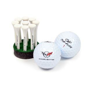 C5 Corvette Emblem Golf Ball & Tees Gift Set