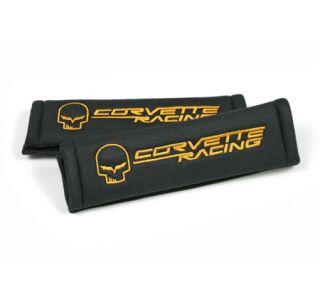 Corvette Seat Belt Pads w/Jake Emblem