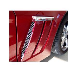 2010-2013 Corvette Grand Sport 2-pc Laser Mesh Side Fender Inserts