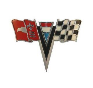 1963-1964 Corvette Nose Emblem Metal Sign