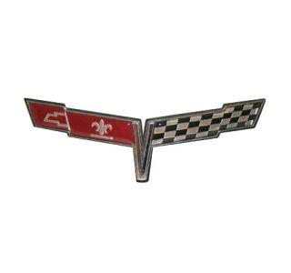 80 Corvette Nose Emblem Metal Sign
