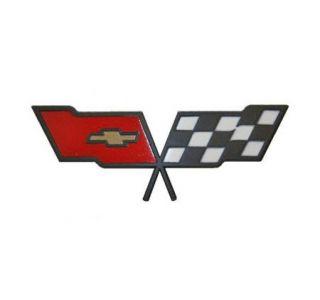 82 Corvette Nose Emblem Metal Sign