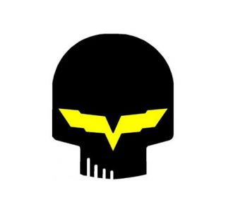 Corvette Jake Black Metal Sign