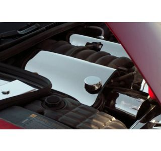 1999-2004 Corvette Polished Stainless Fuel Rail Covers w/Corvette (Replacement)