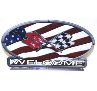 Corvette Cross Flags American Flag Mailbox Topper