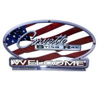 Corvette Stingray American Flag Mailbox Topper