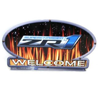 ZR1 Corvette Flames Mailbox Topper