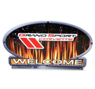 Grand Sport Corvette Flames Mailbox Topper