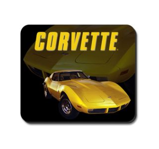 Yellow Stingray Corvette Mouse Pad