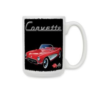 Red Corvette Ceramic Coffee Mug