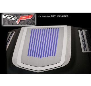 2009-2013 Corvette ZR1 Stainless Ribbed Engine Shroud Cover (Use w/Emblem)