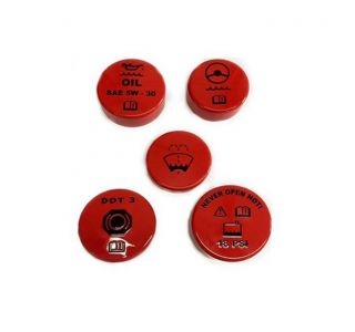97-04 Auto Painted Engine Cap Set w/Graphics