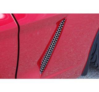 2005-2013 Corvette RaceMesh Front Fender Duct Grilles
