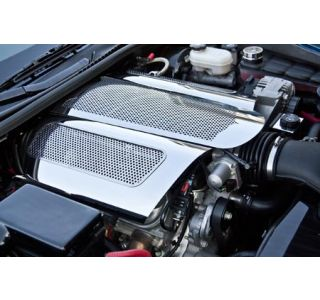 "06-13 LS7 Perforated Stainless ""Low Profile"" Plenum Cover (Illuminated)"