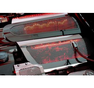 06-13 LS7 Perforated Stainless Fuel Rail Covers (Illuminated)