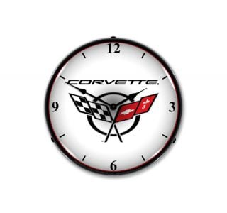 C5 Corvette Emblem Lighted Clock