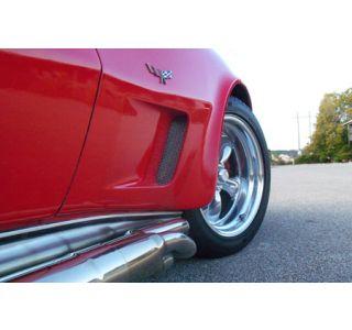 1973-1979 Corvette Black Anodized Side Fender Grille Kit