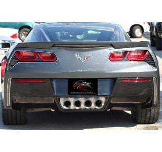 2014-2018 Corvette Stainless Tail Light Trim Rings