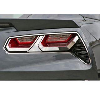 2014-2018 Corvette Stainless Tail Light Trim Kit (8-pc)