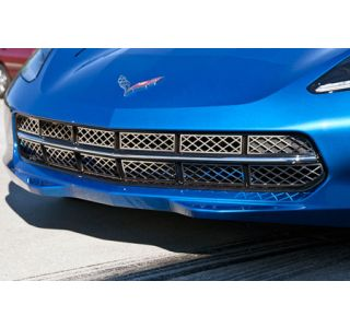 2014-2018 Corvette Front Grille Stainless 12pc Overlay Kit