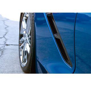 2014-2018 Corvette Stainless Mud Guards w/Carbon Fiber Wrap