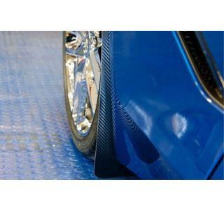15-18 Z06/GS Rear Stainless Mud Guards w/ Carbon Fiber Wrap (2pc)