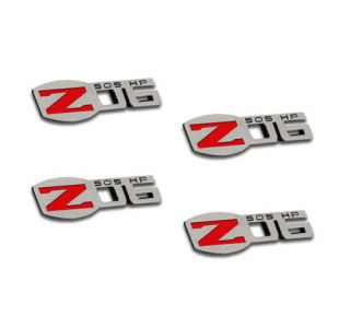 06-13 Z06 505hp Stainless Badges