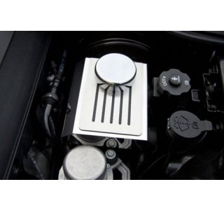 14-18 w/Auto Stainless Master Cylinder Ribbed Cover w/Cap