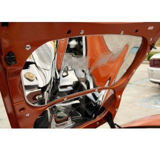 05-13 2pc Polished Stainless Hood Panels w/C6 Emblem