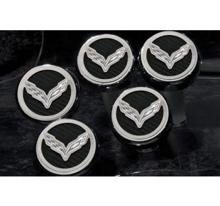 "14-18 w/Auto Engine Cap Covers w/ ""Cross Flags"" Emblem (5pc) (Accessory Color)"