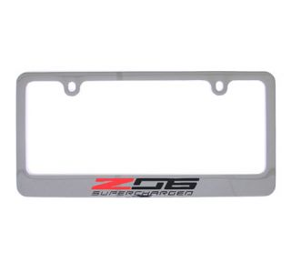 15-18 Chrome License Plate Frame w/Z06 Emblem (Default)
