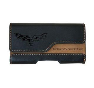 """Two-Tone Leather Cell Phone Holder (2"""" x 3.75"""") (Default)"""
