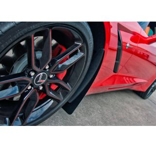 14-18 Front Stainless Mud Guards w/Carbon Fiber Backing (4pc) (Default)