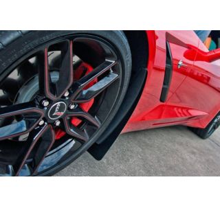 15-18 Z06/GS Rear Stainless Mud Guards w/ Carbon Fiber Backing (2pc)