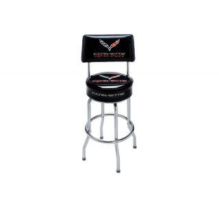 C7 Corvette Racing Counter Stool w/Backrest