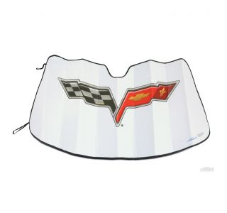 05-13 Coverking Moda Windshield Accordion Sunshield w/Emblem