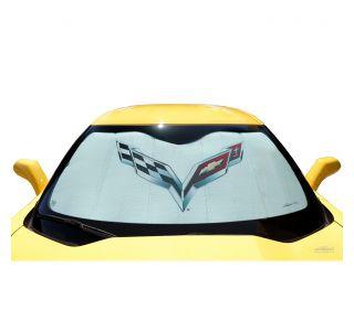 14-19 Coverking Moda Windshield Accordion Sunshield w/Emblem