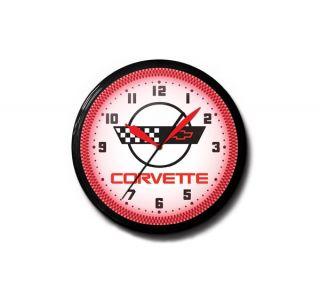 C4 Corvette 20in Neon Clock