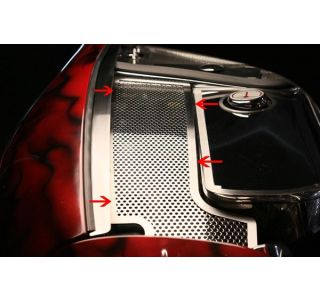 97-04 Perforated Stainless Inner Fender Accent Plates