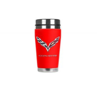 C7 Corvette Red Mugzie Travel Mug