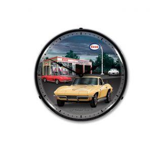 1965 Corvette Lighted Clock