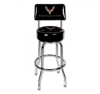 Next Generation Corvette Counter Stool w/Backrest