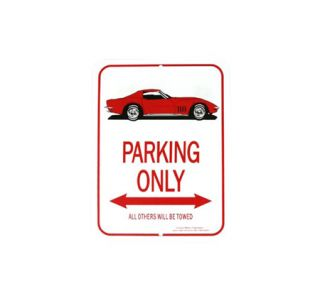 1968-1975 Corvette Red Coupe Parking Sign