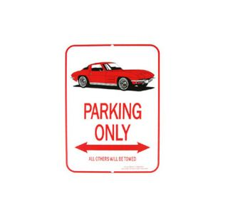 1963-1967 Corvette Red Coupe Parking Sign