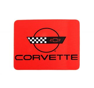 Red Mouse Pad w/C4 Corvette Emblem