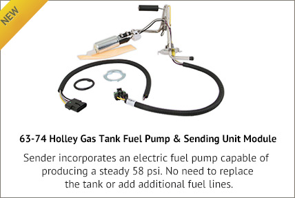 63-67 Holley Gas Tank Fuel Pump & Sending Unit Module