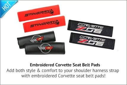Embroidered Seatbelt Pads