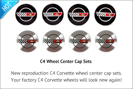 New C4 Wheel Center Cap Sets